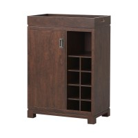 Homestar Bar Cabinet with Wine Storage & Reviews | Wayfair