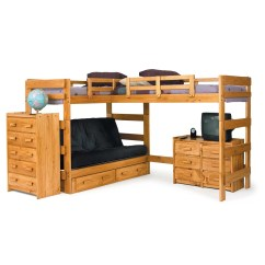 Loft Bed With Sofa Under Sofas Manufacturers Uk Chelsea Home L Shaped Bunk And Reviews Wayfair