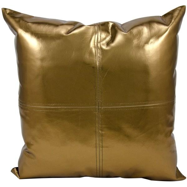 Bronze Metallic Decorative Throw Pillows