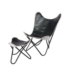 Butterfly Lounge Chair Office Repair Fashion N You Leather And Ottoman