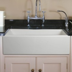 Fireclay Kitchen Sink Cheap Extractor Fan Empire Industries Caesar 30 Quotx18 Quot Reversible Thick Edge