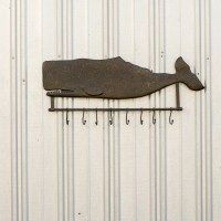 Ragon House Collection Metal Whale Wall Hanging Coat Rack ...