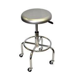 Garage Chair With Wheels Ergonomic What Is Trinity 28 Quot Aluminum Work Stool And Reviews Wayfair