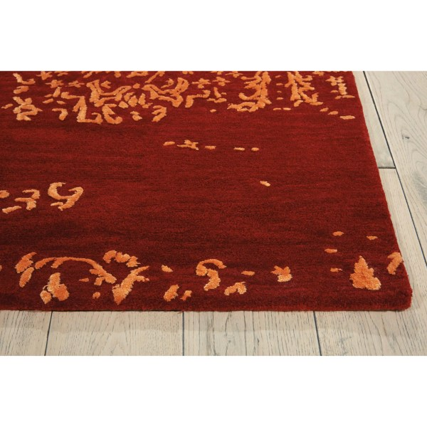 Calvin Klein Rugs Opaline Hand-tufted Fire Area Rug