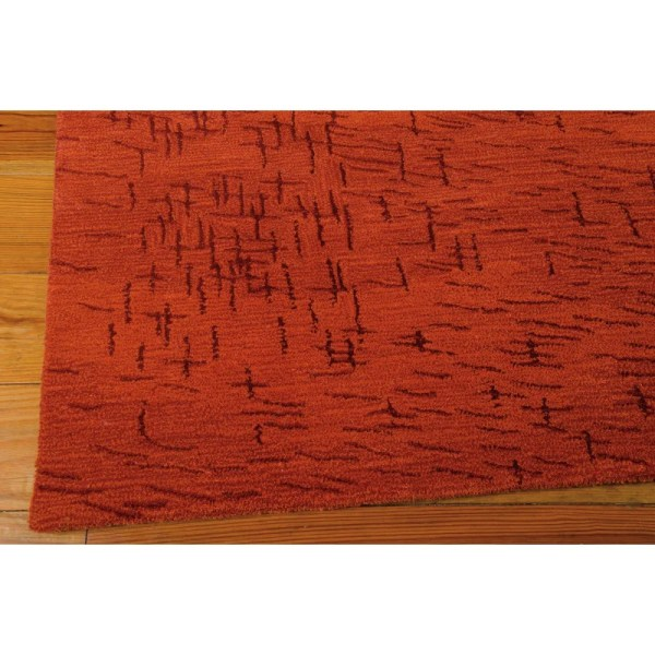 Calvin Klein Rugs Luster Wash Fringe Ikat Autumn Area Rug