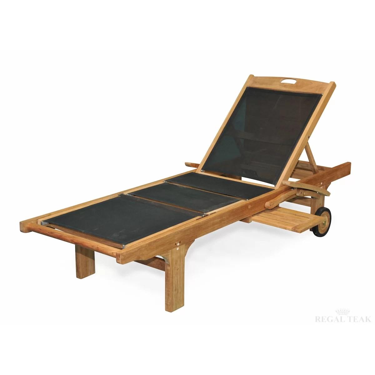 teak chaise lounge chairs sale kidkraft doll high chair regal sling arm and reviews wayfair
