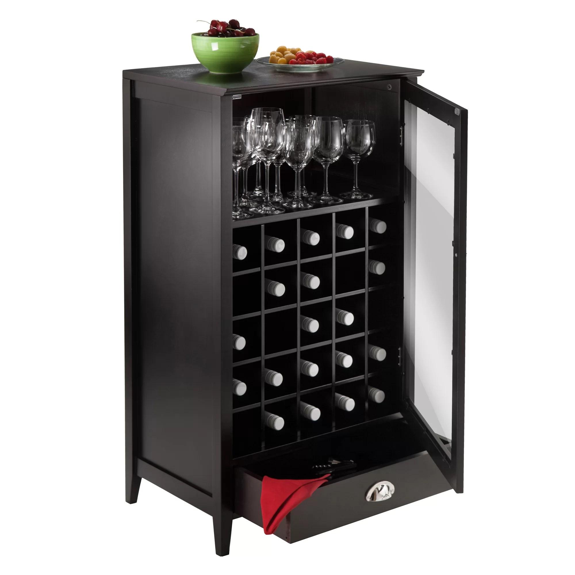Winsome Bordeaux 25 Bottle Floor Wine Cabinet  Reviews