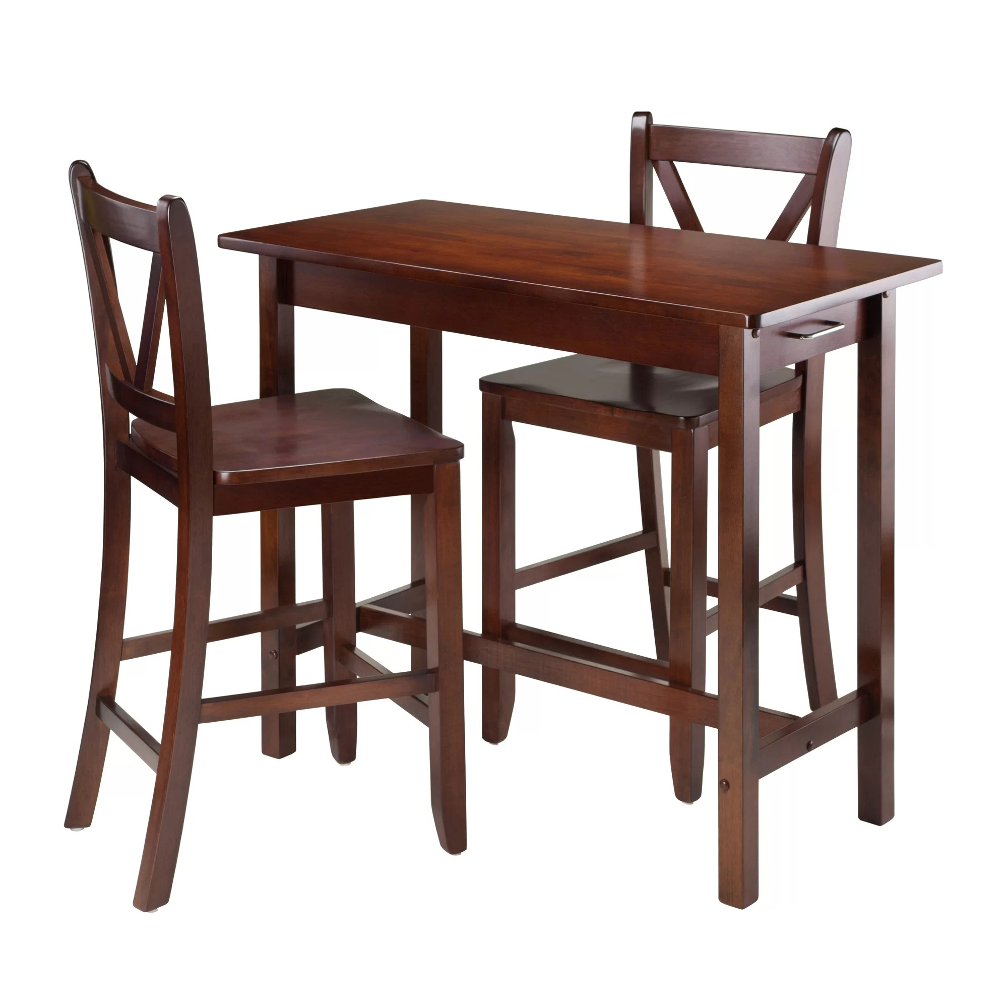 3 piece kitchen set small kitchens with islands winsome island dining and reviews wayfair