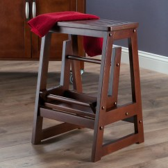 Chair Step Stool Flat Office Winsome 2 Wood With 200 Lb Load Capacity