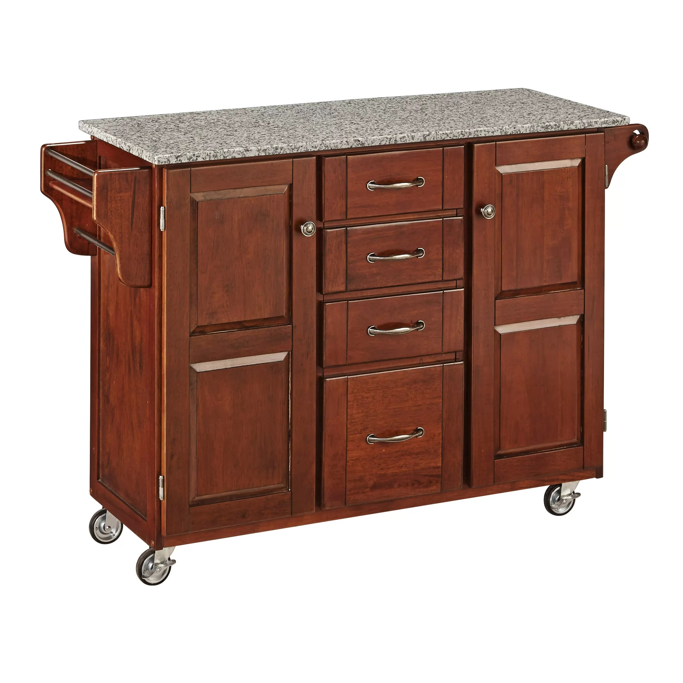 cart kitchen island flush mount light home styles create a with granite top