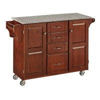 Home Styles Create-a-Cart Kitchen Island with Granite Top ...