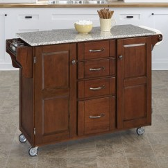 Granite Top Kitchen Island Square Sink Home Styles Create A Cart With