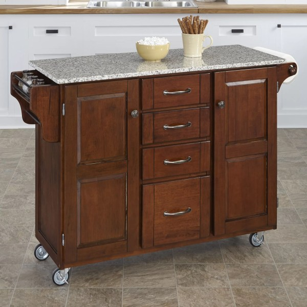 Home Styles Create-cart Kitchen Island With Granite Top &