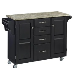 Cart Kitchen Island Undermount Sink Home Styles Create A With Concrete Top