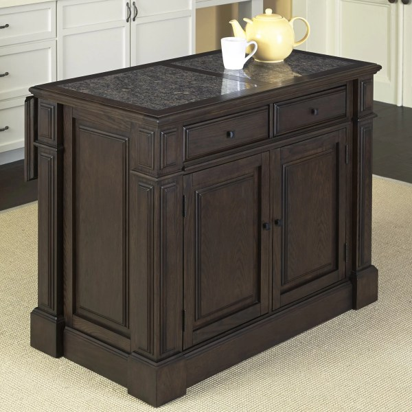 Home Styles Prairie Kitchen Island With Granite Top &