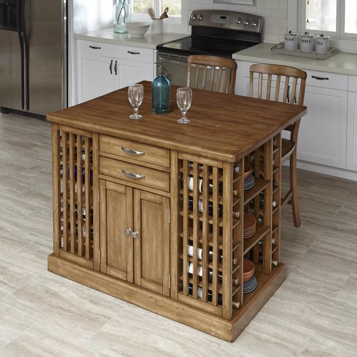 Home Styles Vintner Piece Kitchen Island Set