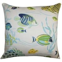 The Pillow Collection Niju Coastal Cotton Throw Pillow ...