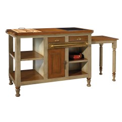 French Kitchen Island Wooden Bench For Table Heritage Felix Wayfair Ca