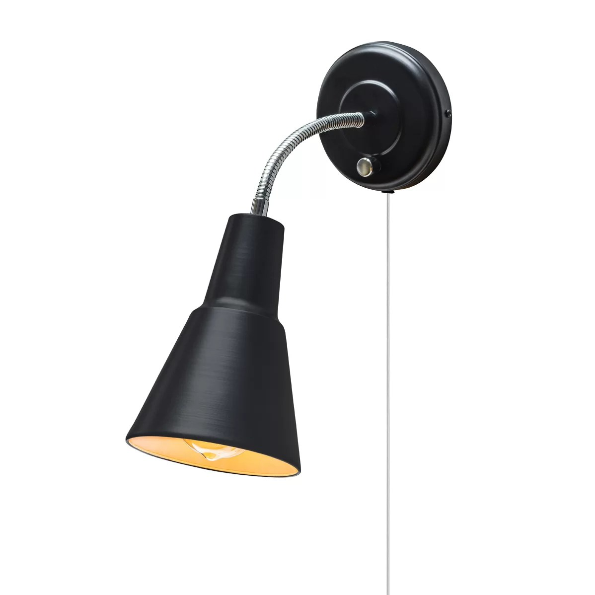 Globe Electric Company Adison 1 Light Plug In Task Wall Sconce with Hardwire Conversion Kit
