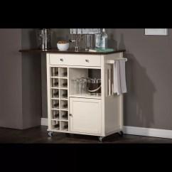 Unfinished Kitchen Cart Ikea Cabinets Sale Wholesale Interiors Baxton Studio Justin Solid Wood