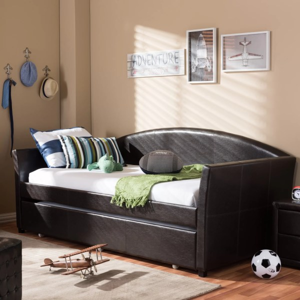 Interiors Baxton Studio Daybed With Trundle