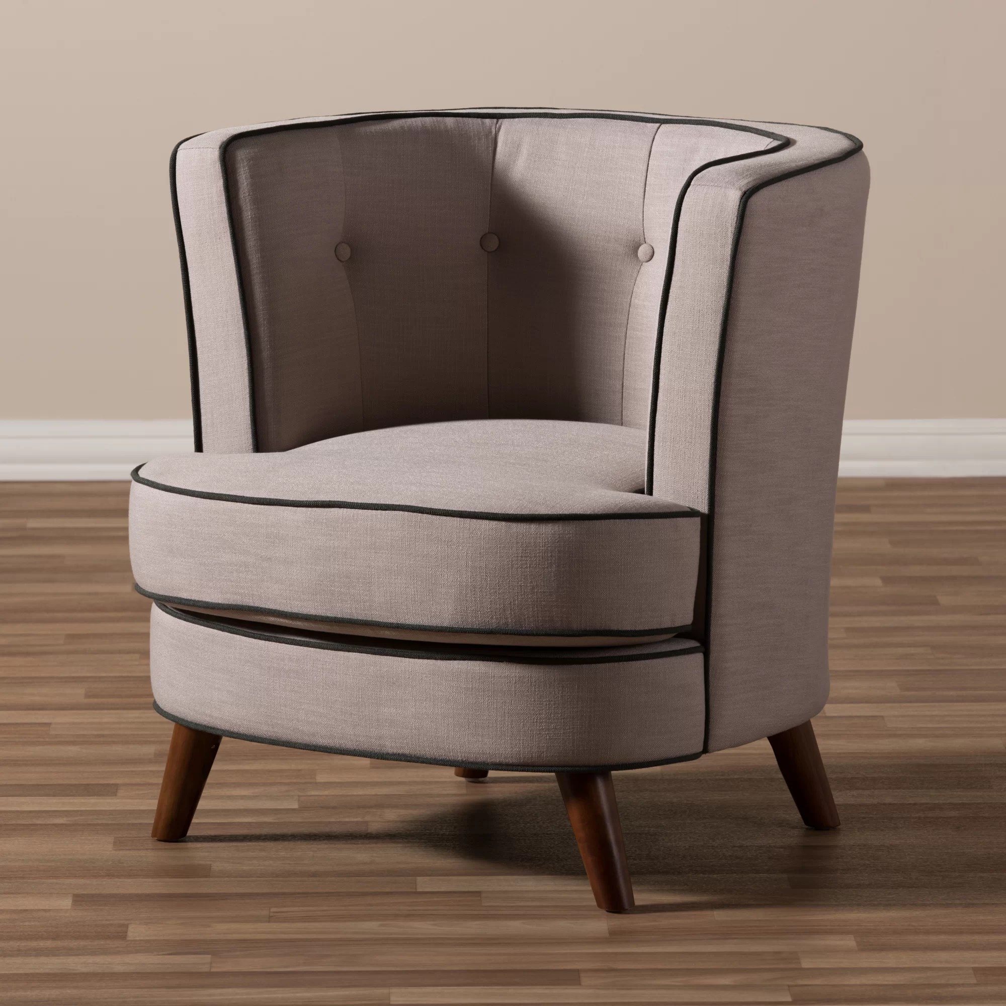 Upholstered Club Chair Wholesale Interiors Baxton Studio Michele Upholstered Club