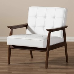 White Club Chairs Lawn Chair Webbing Replacement Wholesale Interiors Baxton Studio And Reviews