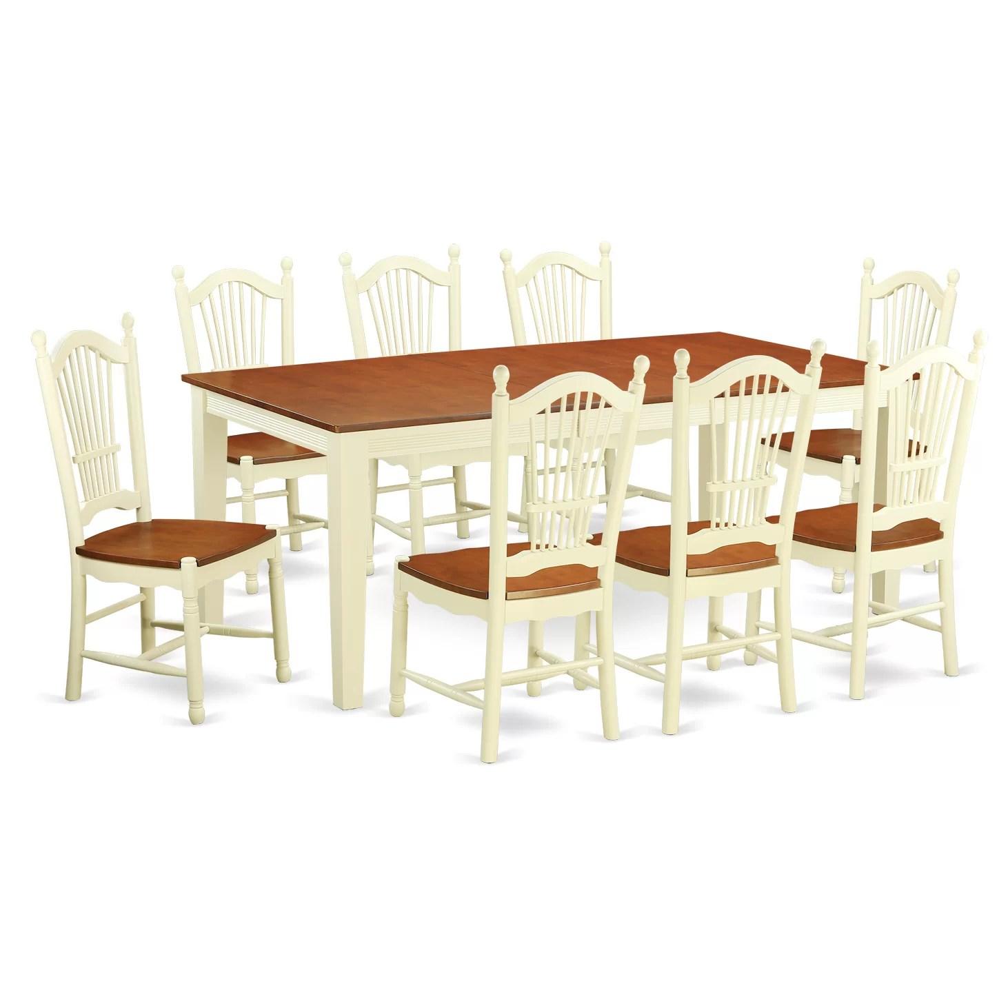 8 chair kitchen table delta bronze faucet east west quincy 9 piece dining set wayfair