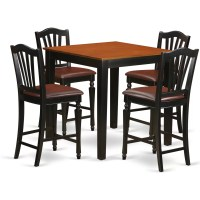 East West 5 Piece Counter Height Pub Table Set | Wayfair.ca