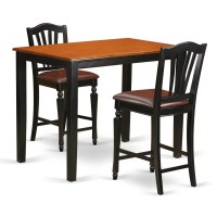 East West Yarmouth 3 Piece Counter Height Pub Table Set ...