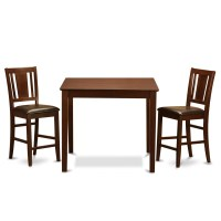 Wooden Importers 3 Piece Counter Height Pub Table Set ...