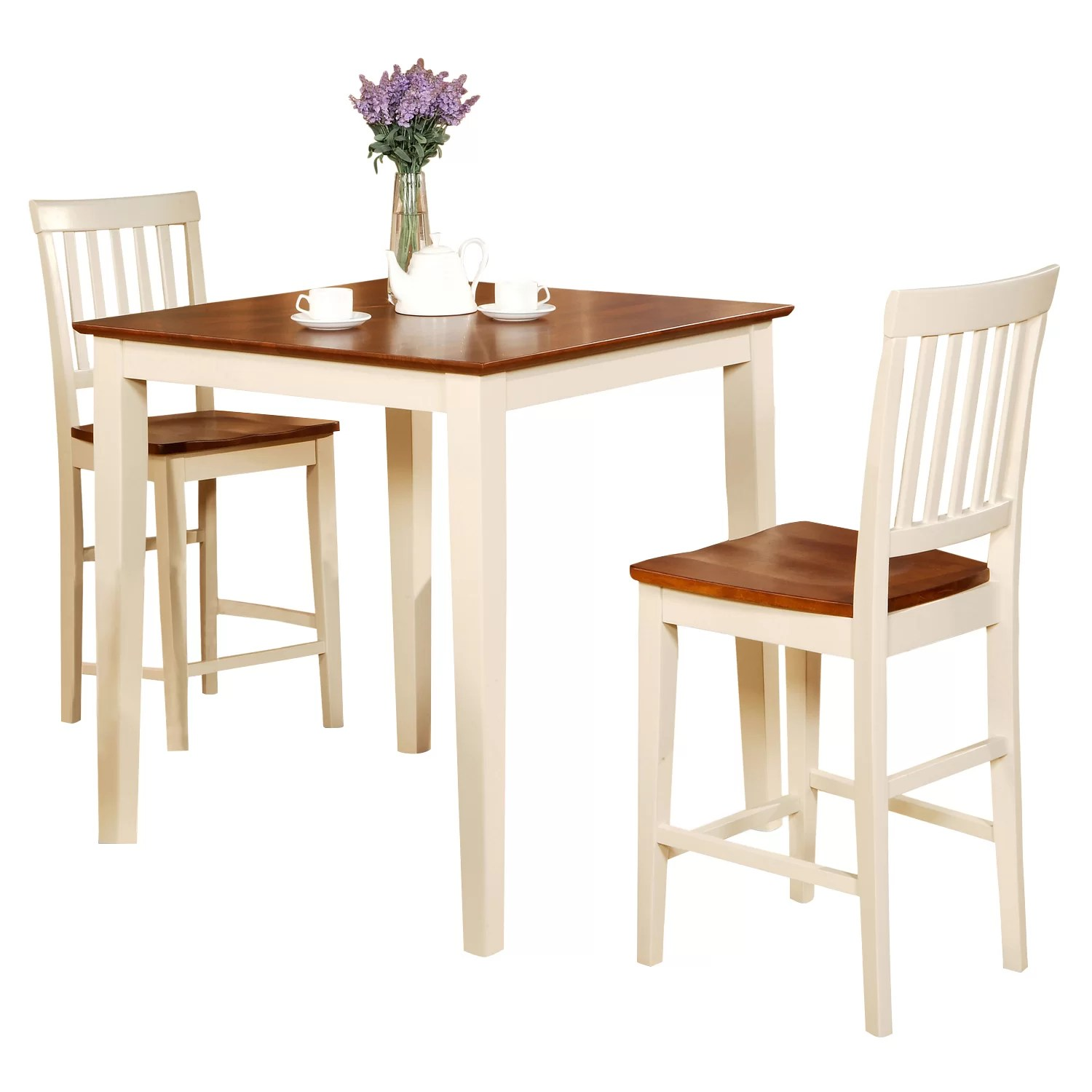3 piece kitchen set replace countertop wooden importers vernon counter height dining