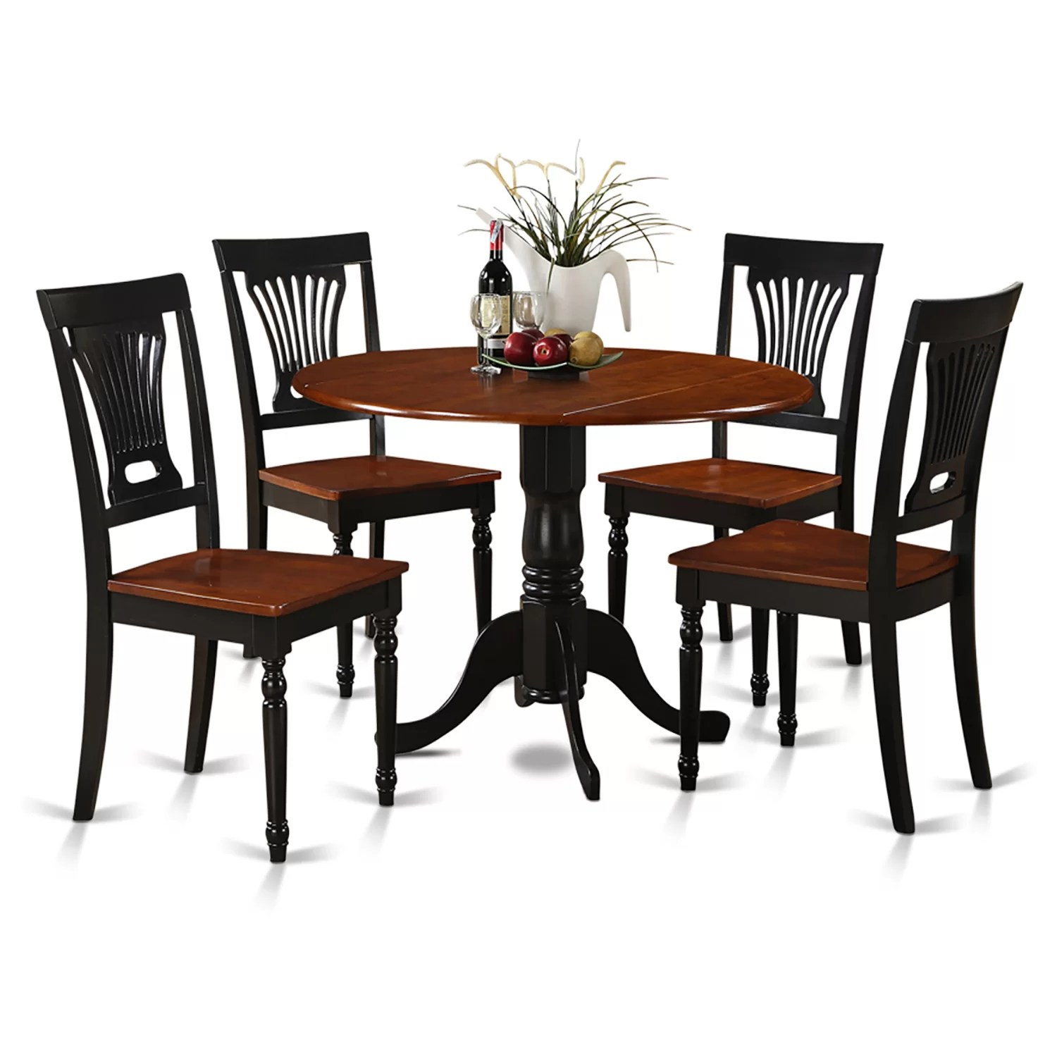 dining table and chairs dublin wicker patio with ottoman wooden importers 5 piece set reviews wayfair
