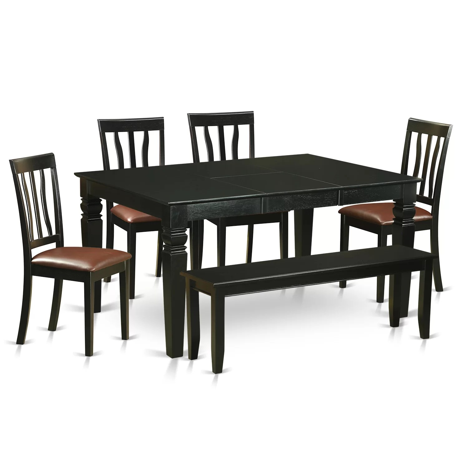 6 Dining Room Chairs Wooden Importers Weston 6 Piece Dining Set Wayfair