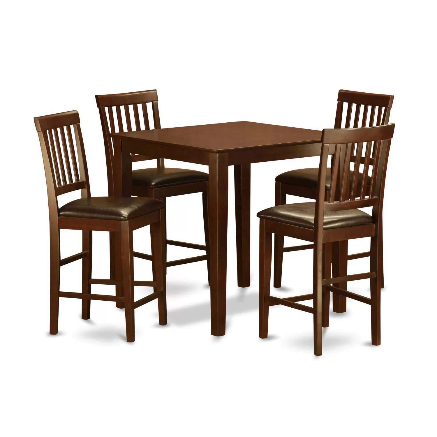 Pub Table With Chairs Wooden Importers 3 Piece Counter Height Pub Table Set