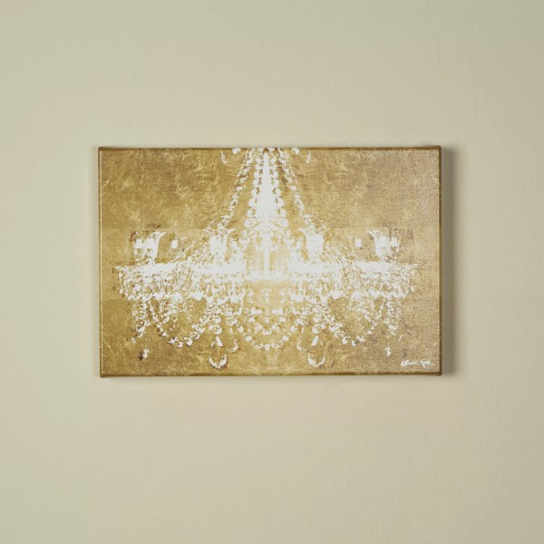Oliver Gal Dramatic Entrance Gold Graphic Art Wrapped