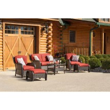 Hanover Strathmere 6 Piece Lounge Seating Group With