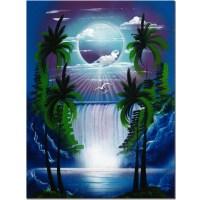 Trademark Art 'Moon Over the Waterfall II' by Conrad ...