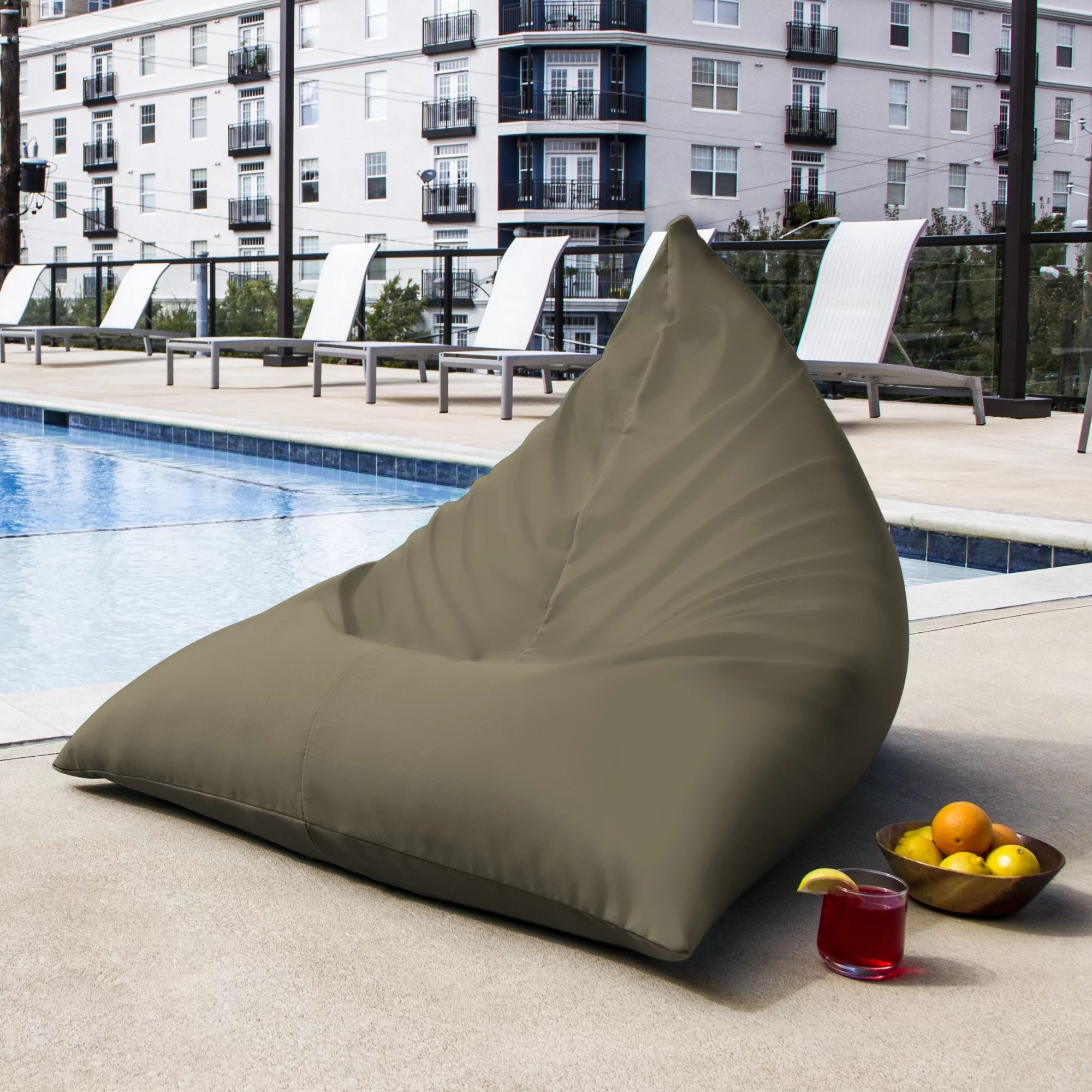 Outdoor Bean Bag Chairs Jaxx Twist Outdoor Bean Bag Chair And Reviews Wayfair