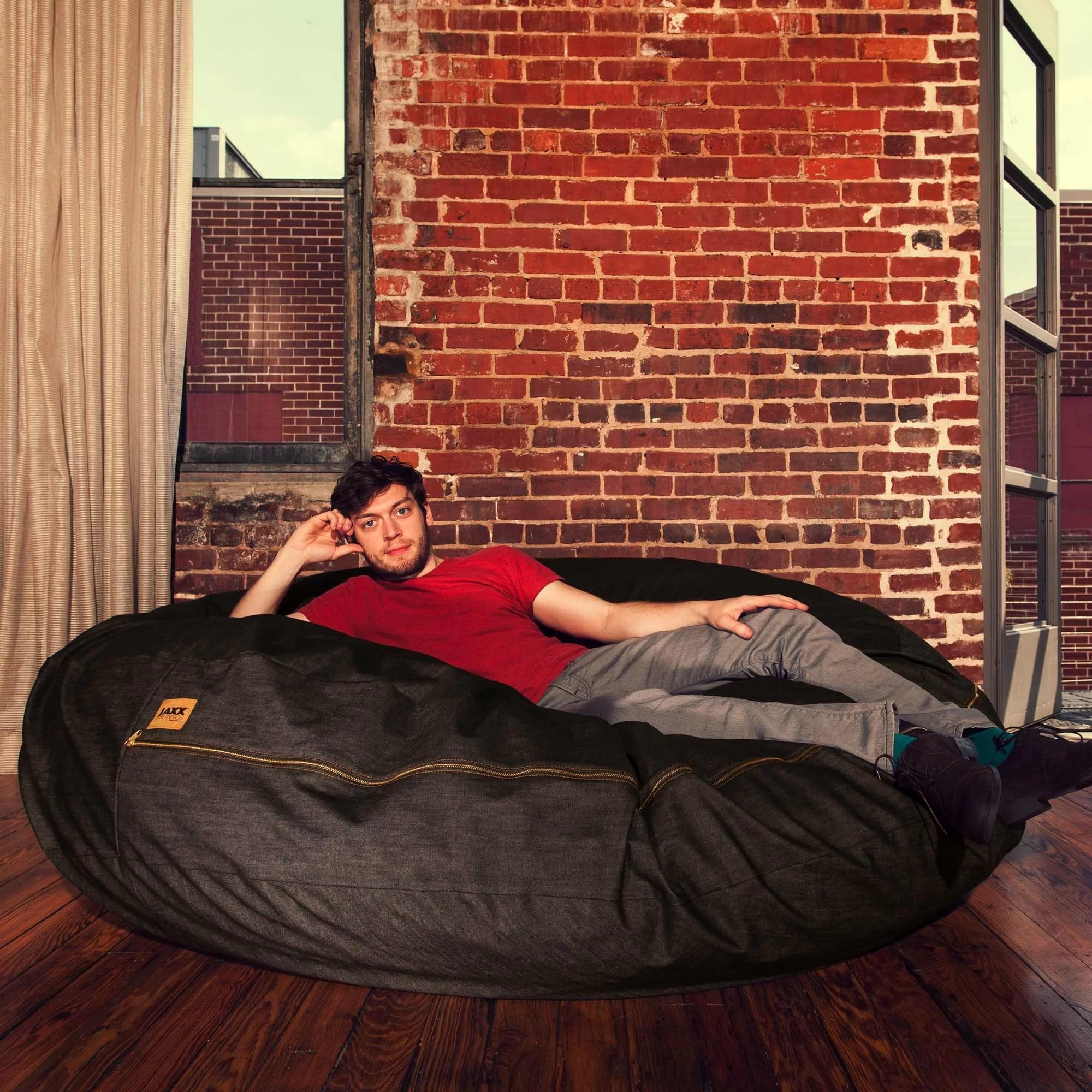 jaxx bean bag chair what s a rail denim cocoon 6 39 and reviews wayfair