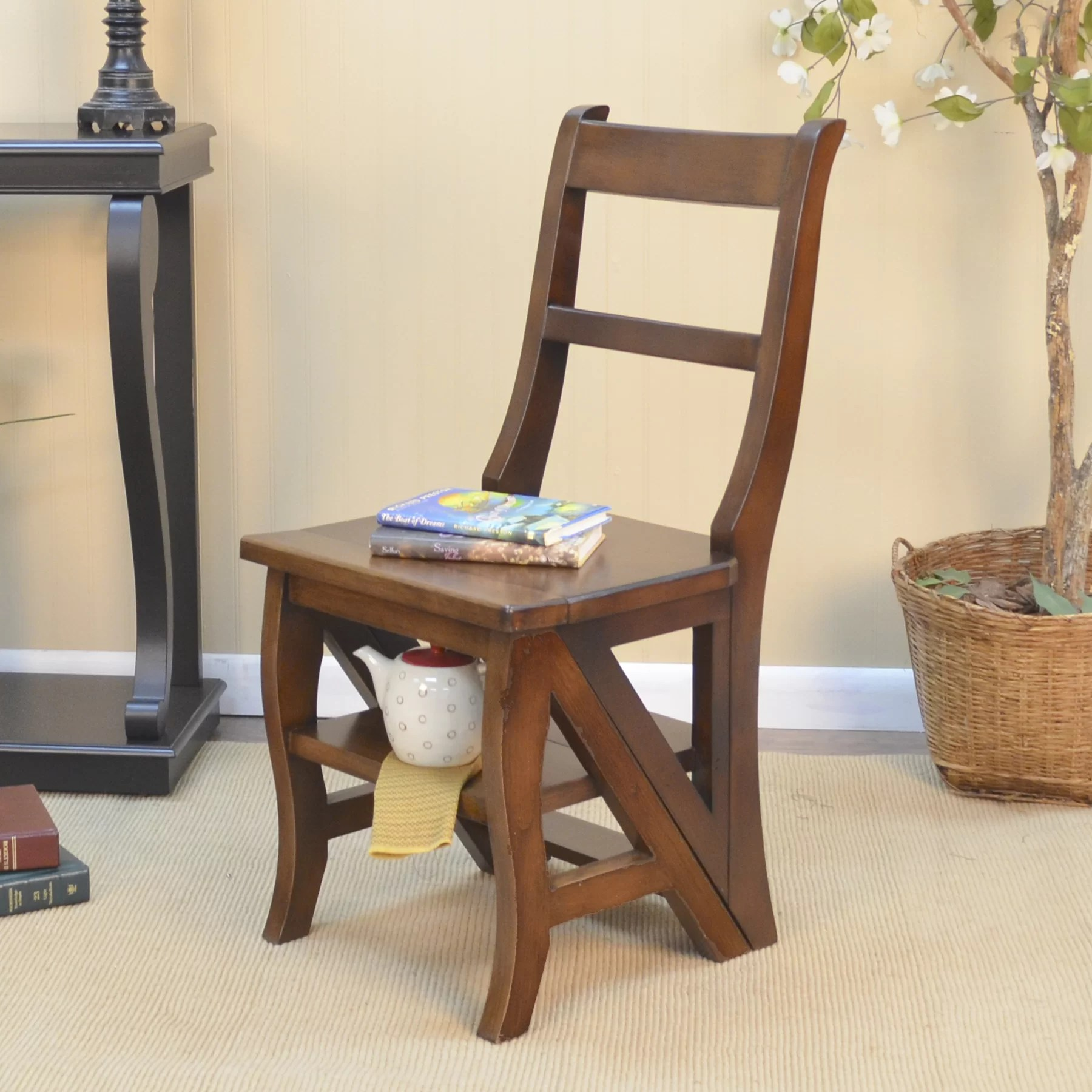 library chair ladder kitchen table with chairs carolina cottage franklin and reviews