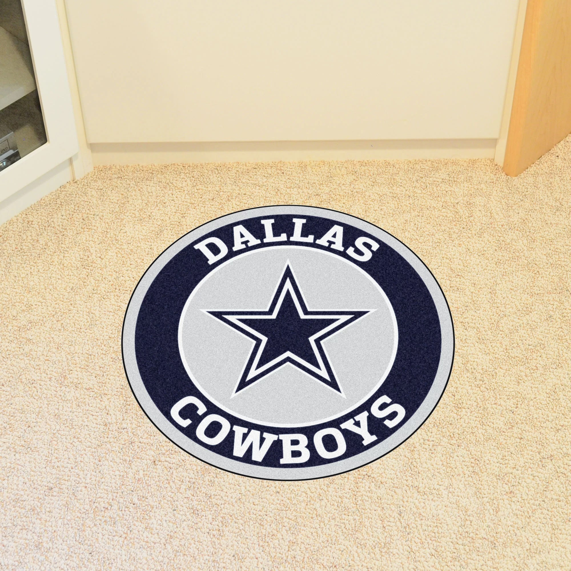 dallas cowboys chairs sale chair cover hire norfolk fanmats nfl roundel mat and reviews wayfair