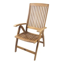 West Marine Chairs Used Power For Sale Seateak Weatherly Folding 6 Position Deck Armchair