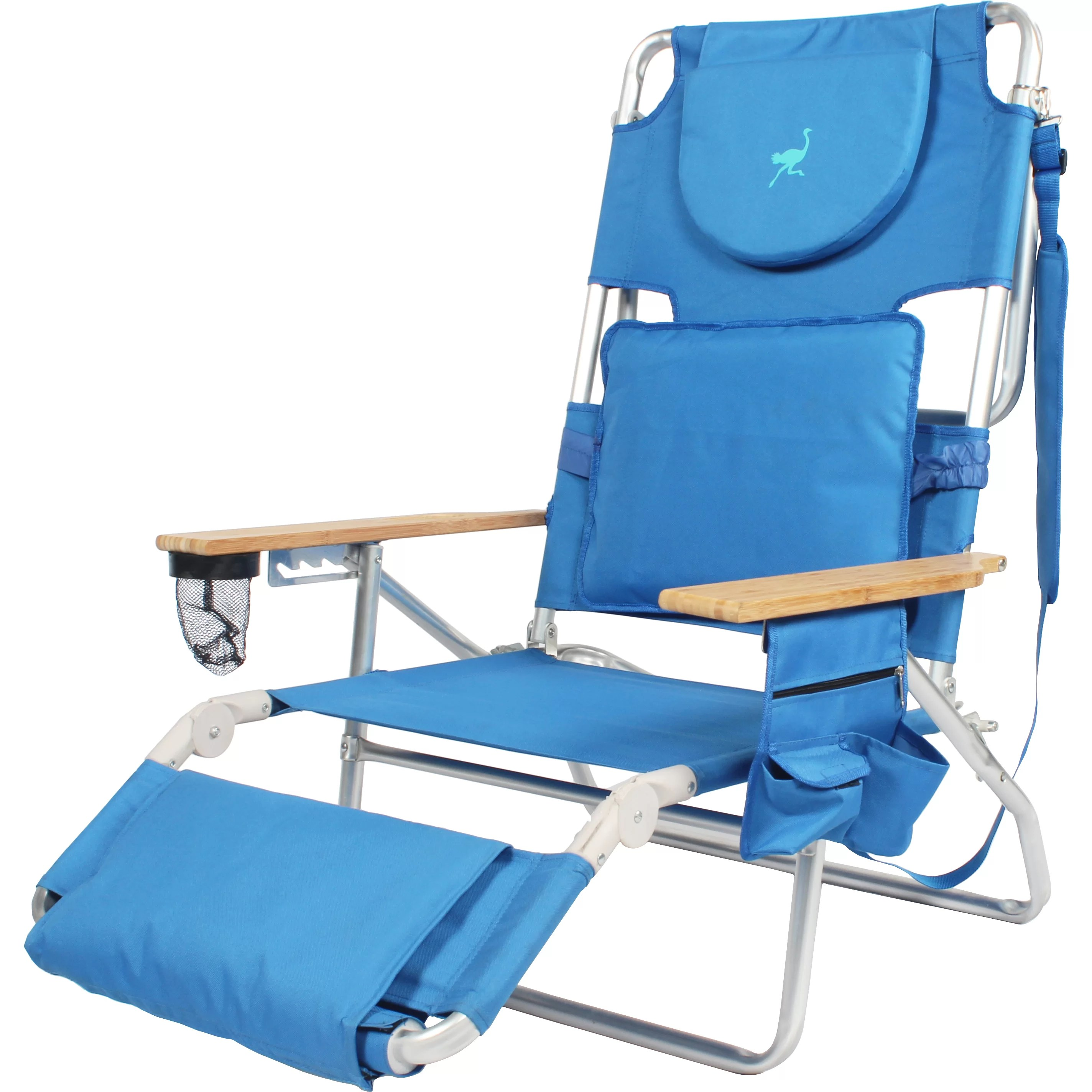 padded beach chair light blue banquet covers ostrich deluxe and reviews wayfair