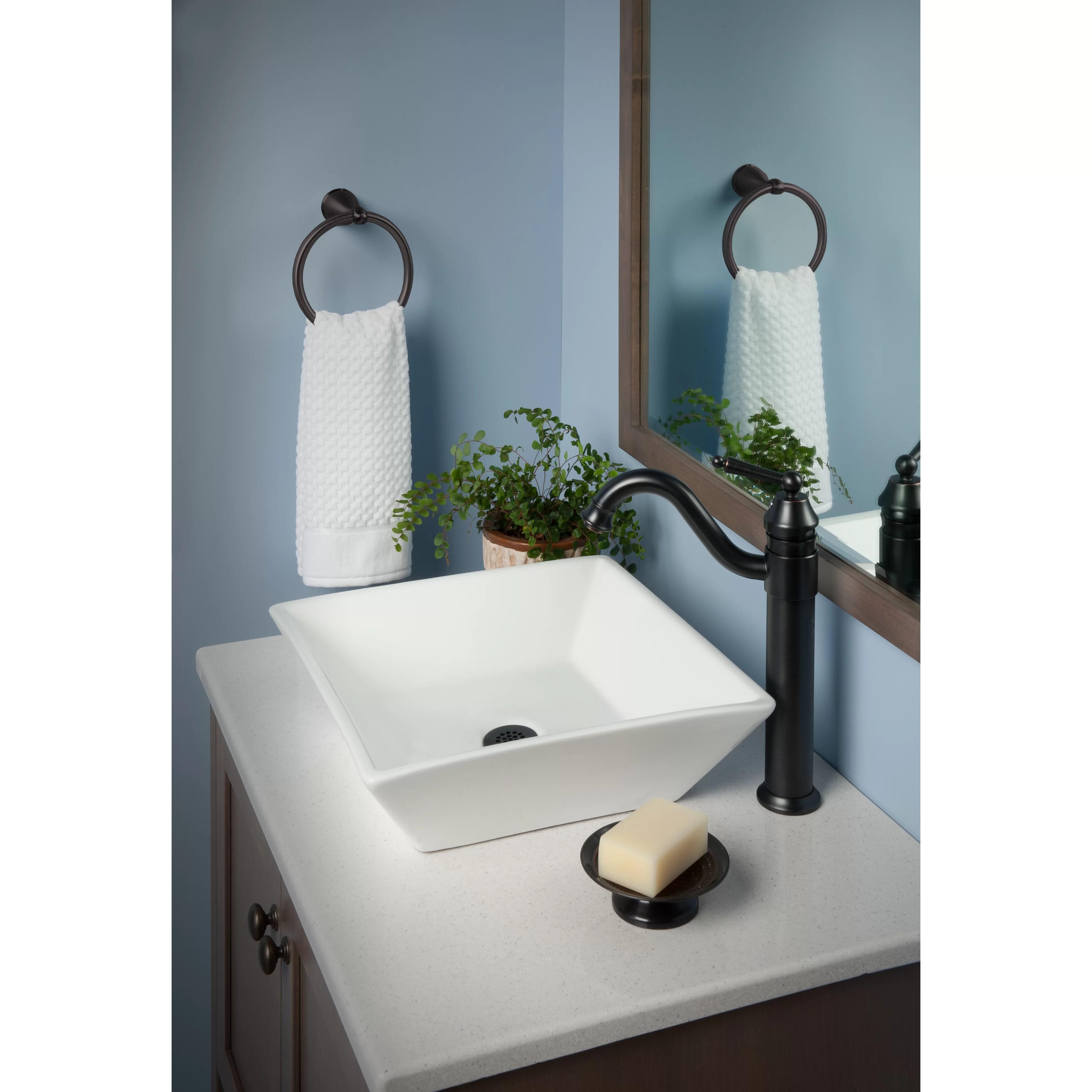 Novatto Square Ceramic Vessel Bathroom Sink  Wayfair