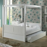 Camaflexi Twin Canopy Bed with Trundle | Wayfair.ca