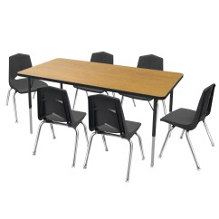 Activity Table And Chair Set Computer Gaming Marco Group 7 Piece Rectangular