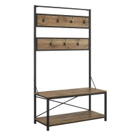 Walker Edison Industrial Metal and Wood Hall Tree | Wayfair