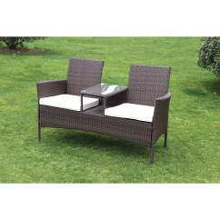 Tete A Chair Outdoor Best High Suntime Living Forres Wicker Bench