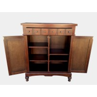 D-Art Collection Colonial Apothecary Storage Cabinet ...